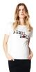 Basic-T-Shirt maternity ~ absolut Must-Have T-shirt Digital Rose - Größe : XXS; Farben: White (C001)