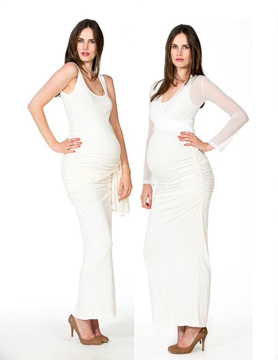 Kleid Auril elegant Bezaubernd Umstands-Brautkleid bodenlanges...