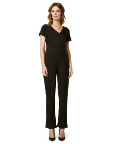 Supermom Jumpsuit Black Rib